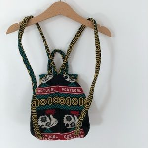 Handmade chicken  mini back pack made in Portugal